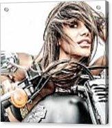 Girl And Harley Acrylic Print