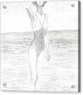 Girl And Sea Acrylic Print