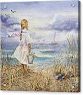 Girl At The Ocean Acrylic Print