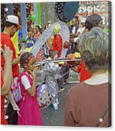 Girl At Carnival Social Occasion Celebrations Acrylic Print