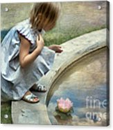 Girl At The Pond Acrylic Print