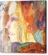 Girl At Window Acrylic Print
