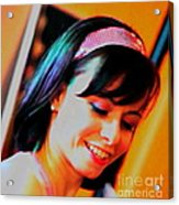 Girl Au Gogo Acrylic Print