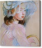 Girl Carrying A Basket Acrylic Print