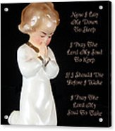 Girl Childs Bedtime Prayer Acrylic Print