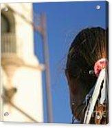 Girl Feather Headdress Acrylic Print