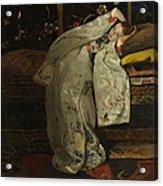 Girl In A Kimono Acrylic Print