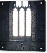 Girl In Chapel Acrylic Print by Joana Kruse