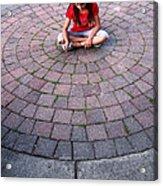Girl In Circle Acrylic Print