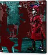 Girl In The Blood-stained Coat Acrylic Print