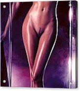 Girl in the shower 1 Acrylic Print