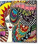 Girl In The Wind Acrylic Print