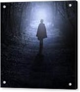 Girl In The Woods Acrylic Print