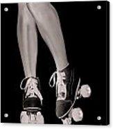 Girl Legs In Roller Skates Artistic Concept Acrylic Print