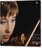 Girl Musician And Violin Or Viola Photograph Color 3361.02 Acrylic Print