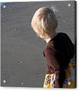 Girl On Beach II Acrylic Print