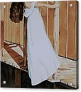 Girl On Dock Acrylic Print