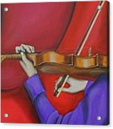 Girl On Violin Acrylic Print