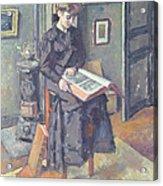 Girl Reading A Book Acrylic Print