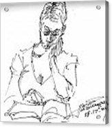 Girl Reading Acrylic Print