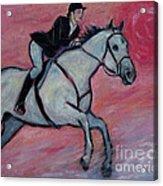 Girl Riding Her Horse I Acrylic Print