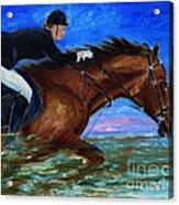 Girl Riding Her Horse II Acrylic Print