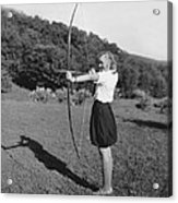 Girl Scout With Bow And Arrow Acrylic Print