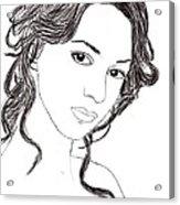 Girl Sketch Acrylic Print
