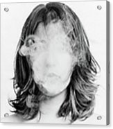 Girl Smoking Acrylic Print