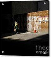 Girl Walking Into Shadow - New York City Street Scene Acrylic Print