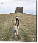 Girl Walks To A Chapel Acrylic Print
