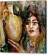 Girl With A Jug. Acrylic Print