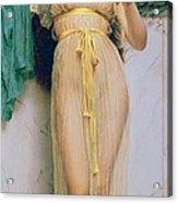 Girl With A Mirror Acrylic Print