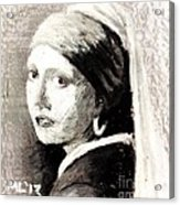 Girl With A Pearl Earring By Jan Vermeer Van Delft Acrylic Print