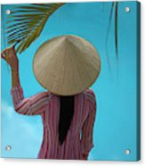 Girl With Conical Hat, Nha Trang Acrylic Print