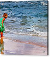 Girl With Pail Acrylic Print