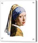 Girl With Pearl Earring Flip Side Acrylic Print