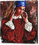 Girl With The Poor Hearing Acrylic Print