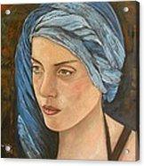 Girl With Turban Acrylic Print