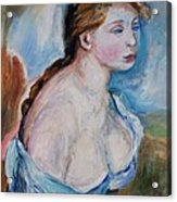 Girl With With Daisies Renoir Acrylic Print