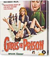 Girls In Prison, Us Poster, Joan Acrylic Print