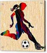 Girls Soccer Acrylic Print