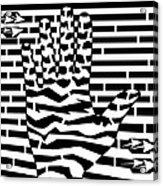 Give Me Five Maze  Acrylic Print
