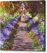 Giverny Gardens Pathway After Monet  Acrylic Print