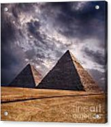 Giza Pyramids In Cairo Egypt Acrylic Print