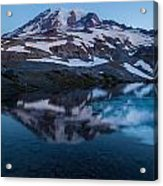 Glacial Rainier Morning Reflection Acrylic Print