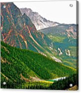 Glacier Area By Mount Edith Cavelle In Jasper Np-alberta Acrylic Print