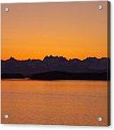Glacier Bay Sunrise Acrylic Print