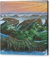 Glacier Castle Ruins Acrylic Print