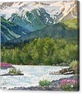 Glacier Creek Summer Evening Acrylic Print